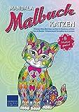 Mandala Malbuch Katzen: 55 tierische Motive (Motiv Katze) zum Malen für Erwachsene und Kinder – Tiere als Mandala – Entspannung und Stressabbau durch Ausmalen (Mandala Malbücher Tiermotive)