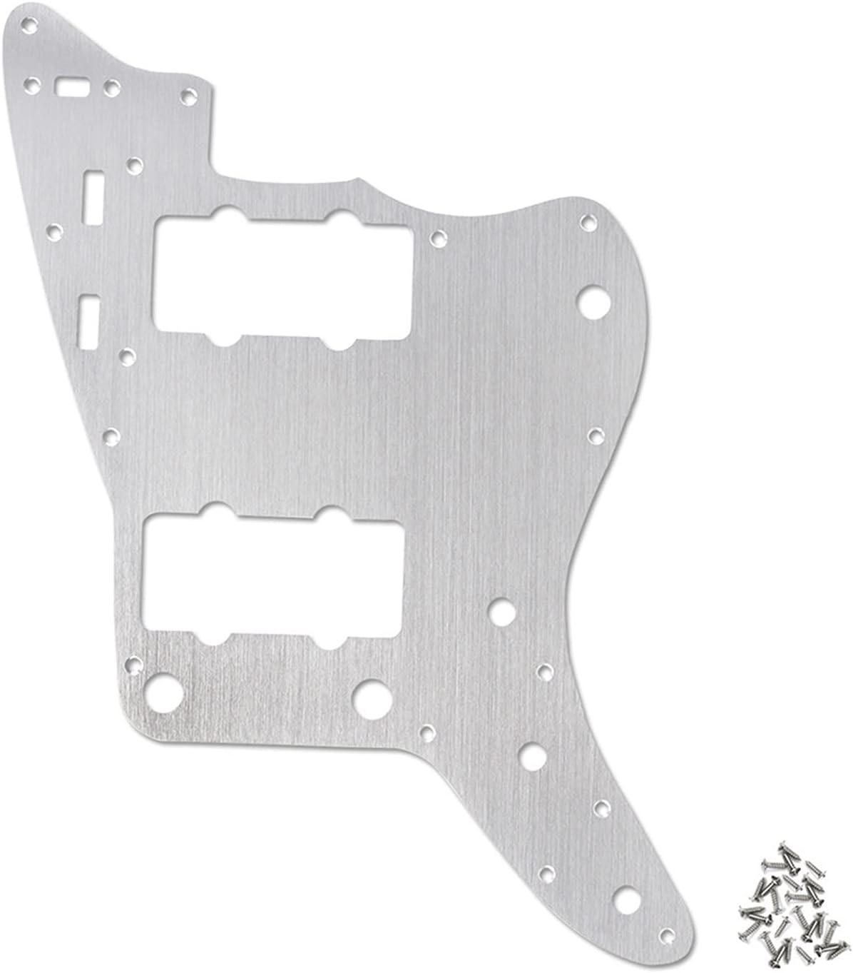 HUAHUA JUSU Store Guitarra eléctrica PickGuard Backplate Fit de 13 Orificios para estándar Americano JM Accesorios de Guitarra de Plata de Guitarra de jazzMaster (Color : Silver)