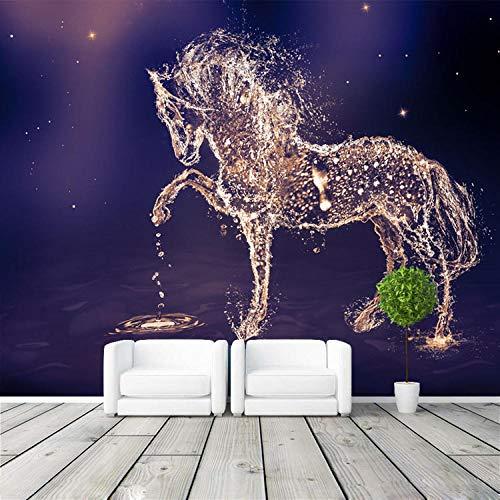 Tapeten Fantasie Pferd Fototapete Benutzerdefinierte Wandbild Charming Galaxy Tapete Wandkunst Schlafzimmer Mädchen Kinderzimmer Dekor Dekoration-250 * 175Cm