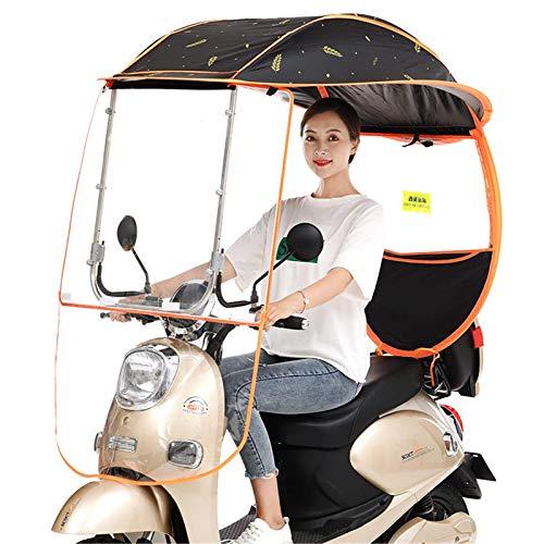 YLKCU Fundas para Motos Toldo de Dosel de Paraguas semicerrado de Motocicleta eléctrica, sombrilla de Motor Universal Mobility Sun Shade Rain Cover, protección Resistente a los Rayos UV, C