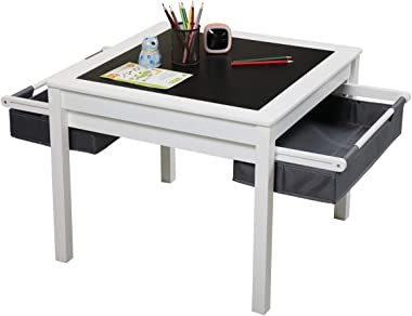 3 in 1 Kids Activity Table Construction Play Desk Table with Storage Drawers and Built in Plate Game Table Learning Toys for