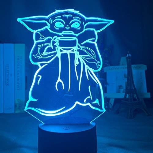 KangYD 3D Nachtlicht Babyschale Suppe, LED Optische Täuschungslampe, E - Alarm Clock Base (7 Farbe), Kreatives Licht, Nachttischlampe, Neuheitslampe, Glücksgeschenk