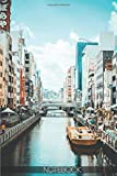 """Notebook - Dotonbori Osaka Travel Log Japan: (110 Pages 6""""x9"""" Ruled Lined Notebook Planner Journal)"""