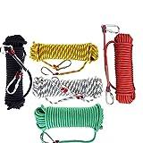 Alysays Corde d'escalade extérieure de 10mm * 20m avec Crochet Haute résistance Escalade Sécurité Corde Camping Randonnée Randonnée Sauvetage Tool Survival d'urgence (Color : Green)