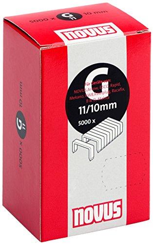 Novus Flachdrahtklammern für Hammertacker 10 mm, 5000 Klammern vom Typ G 11/10, aus verzinktem Stahldraht