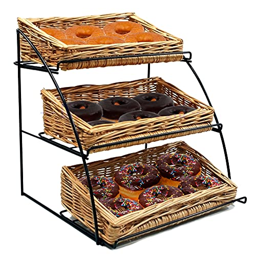 3 Tier Curved Counter Basket Stand (T1207)