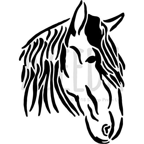 Azeeda A4 'Pferdekopf' Wandschablone / Vorlage (WS00010126)