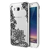 Eouine Galaxy J7 Samsung 2016 Caso, ultra delgado del patrón TPU de protección a prueba de golpes caso de parachoques del gel de silicona Coverng Galaxy J