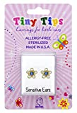 STUDEX Birthstone Tiny Tips Crystal Sapphire Stud Earrings in Tiffany Setting for Little Sensitive Ears 3mm