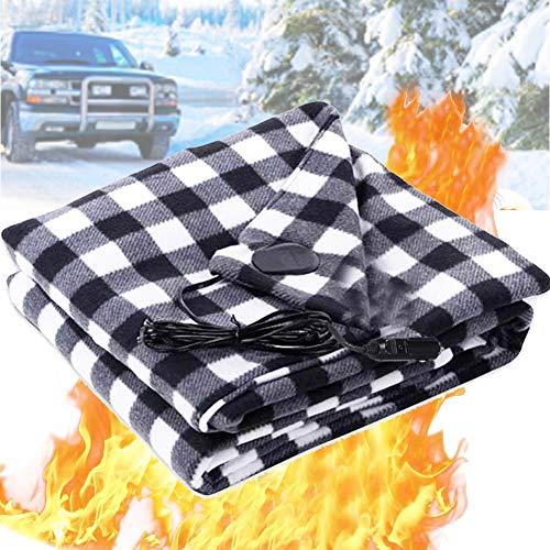 Manta Eléctrica Manta de Calefacción Eléctrica para Coche 12V para Coche Vehículos Recreativos Viajes de Invierno Campamentos o Situaciones de Emergencia, Manta térmica para coche