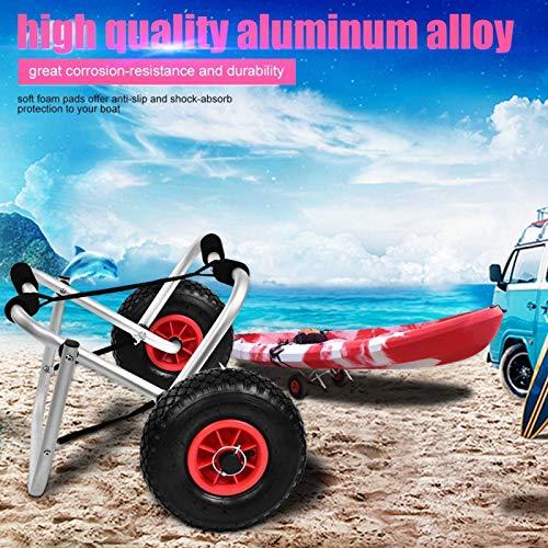 SALUTUYA Kayak Carrier 10 Pulgadas Ruedas Aleación de Aluminio Transporte de Kayak, para Kayak, Bote, Canoa