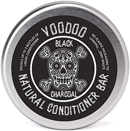 Eco Friendly Voodoo Activated Charcoal Deep Solid Conditioner Bar for Normal Color Treated Dry product image
