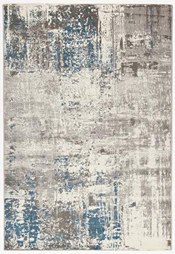 CarpetLiving.com – Alfombra Soho 2 Crudo/Blue | Alfombra moderna | Alfombras de diseño | Salón, Dormitorio, Cocina | 160 x 230 cm