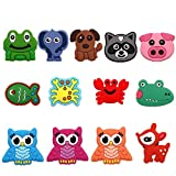 13 Pcs Cute Animals Shoe Charms Accessories Garden Shoe Decoration for croc jibz Kid's Party X-mas Gift