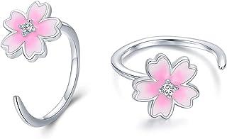Gift For Her Dainty Cherry Blossom Threader Earrings Tiny Ruby Sakura Fashion Elegant CZ Cubic Zirconia 14K Gold Filled