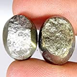GEMSCREATIONS 46.50Cts. Pyrite Druzy Natural Wonderful Matched Pair Oval Cab...