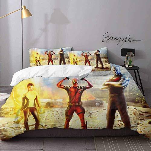 Deadpool Juego de sábanas y edredón de...
