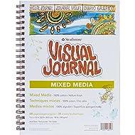 "Strathmore 460-19 500 Series Visual Mixed Media Journal, Vellum, 9""x12"", White, 34 Sheets"