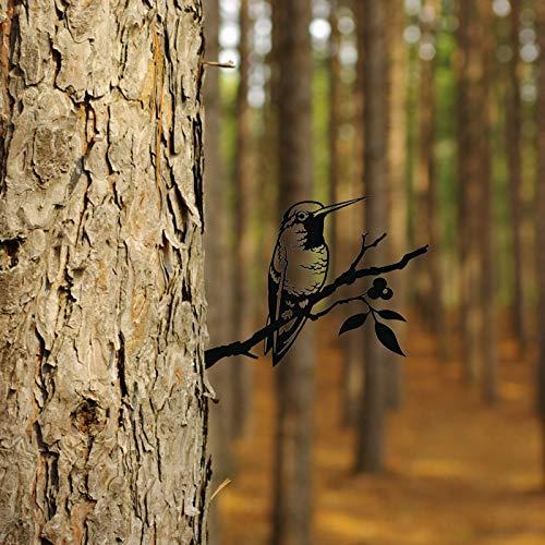 Colibri dans Un Arbre, métal, décoration Oiseau de Jardin, déco pour Arbre ,Art du Jardin ,Décoration Animale en métal de Branche (A)