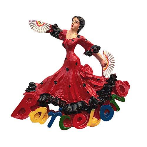 Imán para nevera, diseño de chica bailarina de Barcelona, España, recuerdo de...