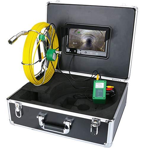 Rohrinspektions-Videokamera, Endoskop IP68 Wasserdichte Abflussrohr-Abwasserkanalinspektions-Kamera-System 10inch 1000 TVL-Kamera mit 6W LED-Lichtern,50M