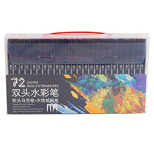 72 piezas de bolígrafos de doble punta para adultos, marcadores de dibujo para dibujar, bolígrafos de colores, suministros de arte para oficina, escuela