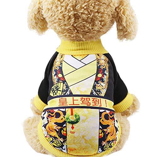 GOUSHENG-Costumes Haustiere Kleidung Kleider Warme Hundekleidung Klassische Haustier Hundekleidung Für Kleine Hunde Mantel Kostüm Herbst Welpen Kleidung Yorkie Chihuahua Mantel Jacke C4S1, Seine Majes