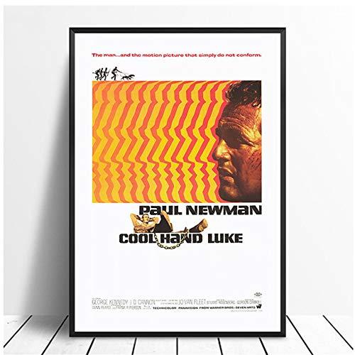 ad Cool Hand LukeVintage Classic Movie Poster Decoración para el hogar Decoración de Pared Arte de la Pared Pintura de la Lona impresión en Lienzo -50x70cm Sin Marco