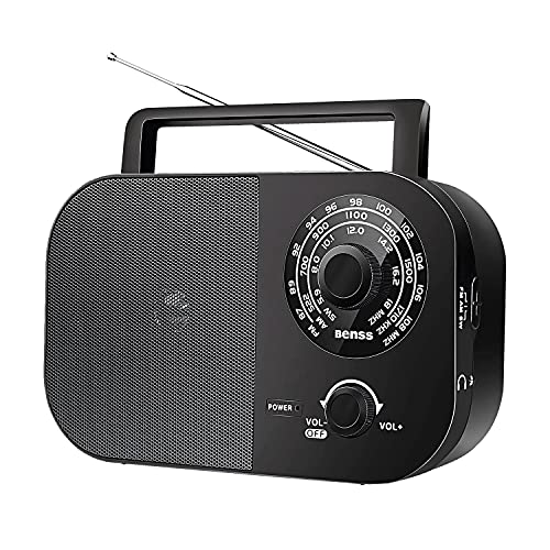 sound portable radios Portable Radio, AM FM Radio with Best Reception and Big Speaker, Stereo Bass Sound, Transistor Radio Operated by Batteries Or AC Power