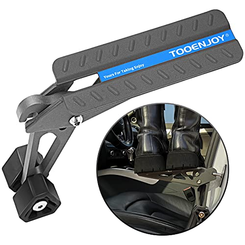TOOENJOY Universal Fit Car Door Step, Foldable Roof Rack Door Step Up on Door Latch, Supports Both Feet, Easy Access to Rooftop for Most Car, SUV, Truck, Max Load 400 lbs (Grey)