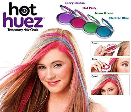 Ndier hot huez - Kit de teñido temporal con efecto tiza para el cabello, 4colores