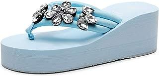 SHANLEE Summer Shoes Ladies Bow Platform Waterproof Sandals Wedge Women Slippers