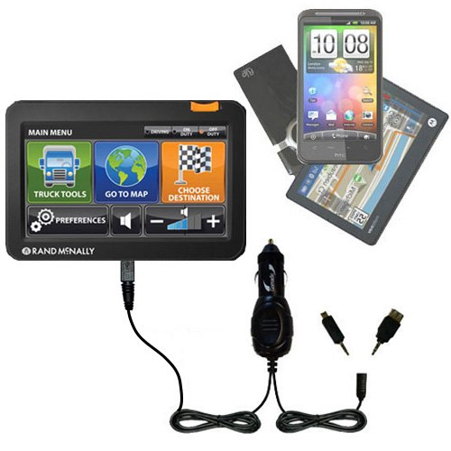 Gomadic Double Port Micro Car/Auto DC Charger Suitable for The Rand McNally Intelliroute TND 510 710 720 - Charges up to 2 Devices simultaneously TipExchange Technology