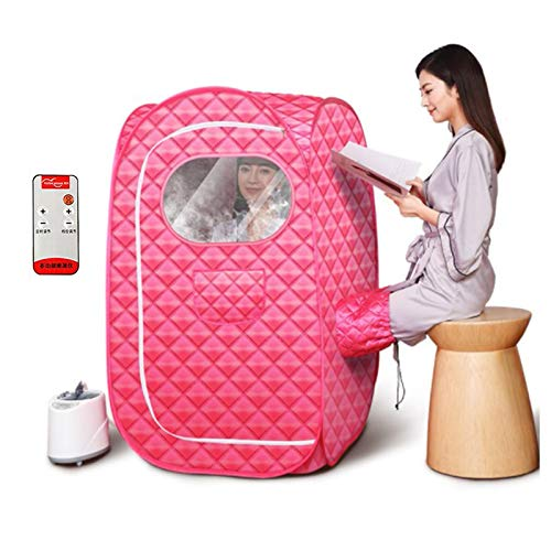 LONGLAN Personal Sauna, Portable Steam Sauna Tent Home Spa Full Body Relaxed and Face Spa Machine With 2L Stainless Steel Liner
