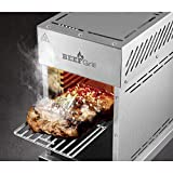Gourmetmaxx Barbecue à gaz pour températures allant jusqu'à 800 °C – Barbecue Haute Performance pour Steaks comme Le Professionnel – brûleur en céramique à gaz réglable en continu