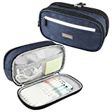 Pencil Case Big Capacity Pen Bags-RAGZAN Pencil Pouch with Durable Zipper and Oxford Fabric Water Resistant for School and Office Supplies Storage-Blue