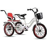 Bicicleta de 16 Pulgadas con 3 Ruedas para niños, triciclos para niños, niñas, Bicicletas para niños de 5 a 6 años con Capacidad para niños pequeños y bebés, Triciclo, Bicicletas de Tres Ruedas, Bici