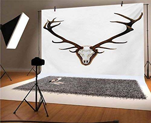 Antlers 20x10 FT Vinyl Photography Background Backdrops,Antlers of a Huge Stag Background for Photo Backdrop Studio Props Photo Backdrop Wall