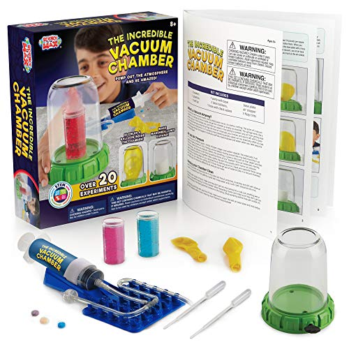 The Incredible Vacuum Chamber - DIY Science Kits for Kids with 20+ Experiments - Educational Physics & Chemistry Stem Toy Set - Cultivate The Little Scientist's Skills - Gift for Kids Ages 8-12