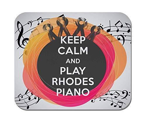 Makoroni - bleiben Sie ruhig und spielen Sie Rhodes Piano - rutschfestes Gummi - Computer, Gaming, Office-Mauspad