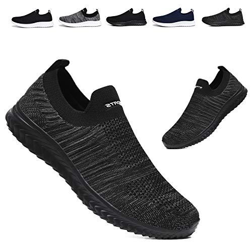 [JIAFO] スリッポン メンズ レディース スニーカー ウォーキングシューズ 幅広 紐なし 超軽量 大きいサイズ ランニングシューズ トレーニングシューズ 歩きやすい 滑り止 ナースシューズ 婦人靴 運動靴 通勤 男女兼用22.5cm~28cm