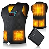 Heated Vest for Men Women -- with 10000mAH Battery Winter Heated Jackets, Double Control