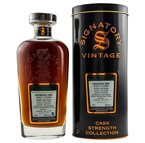 Linkwood 2006-13yo - Sherry Cask - Signatory Vintage Cask Strength Malt Whisky (1 x 0,7l)
