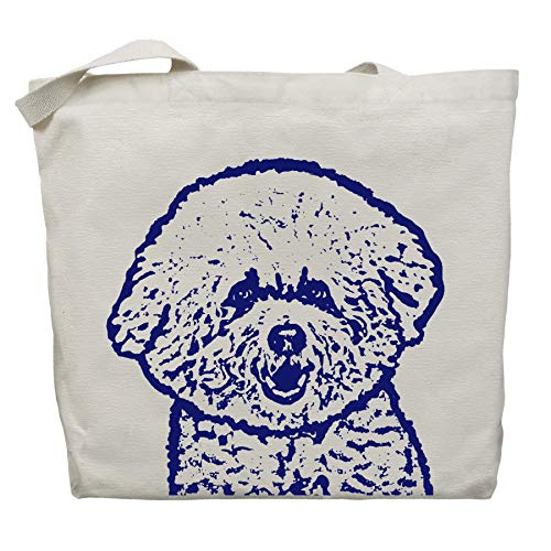 Caddie the Bichon Frise Tote Bag by Pet Studio Art