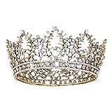 Tiaras de cristal vintage para novia, novia, boda, joyería brillante, decoración de boda, tiara de novia, tiara de cristal, corona con peine para nupcial, gorro para mujer