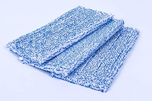 3 Reinigungstücher Ersatz Tücher geeignet für Vorwerk SP600 SP 600 Saugwischer/Hartbodenreiniger/Wischsauger