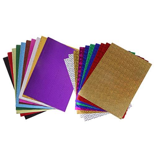FLAMEER 20 Stücke 2 Stile Gewellt Handwerk Selbstklebende Papier Dekorationen Karton