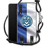 DeinDesign Carry Case kompatibel mit Samsung Galaxy A50 Handykette Handyhülle zum Umhängen MSV Duisburg Fahne Fussball Bundesliga