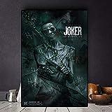 IHlXH The Joker Movie Poster Stampe su Tela Joaquin Phoenix Cuadros Pittura a Olio su Poster Immagine di Arte della Parete per Soggiorno Decorazioni per la casa 60X80 cm Senza Cornice