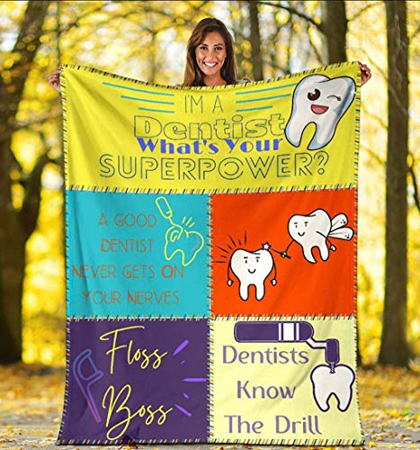 Funny Dentists Throw Blanket